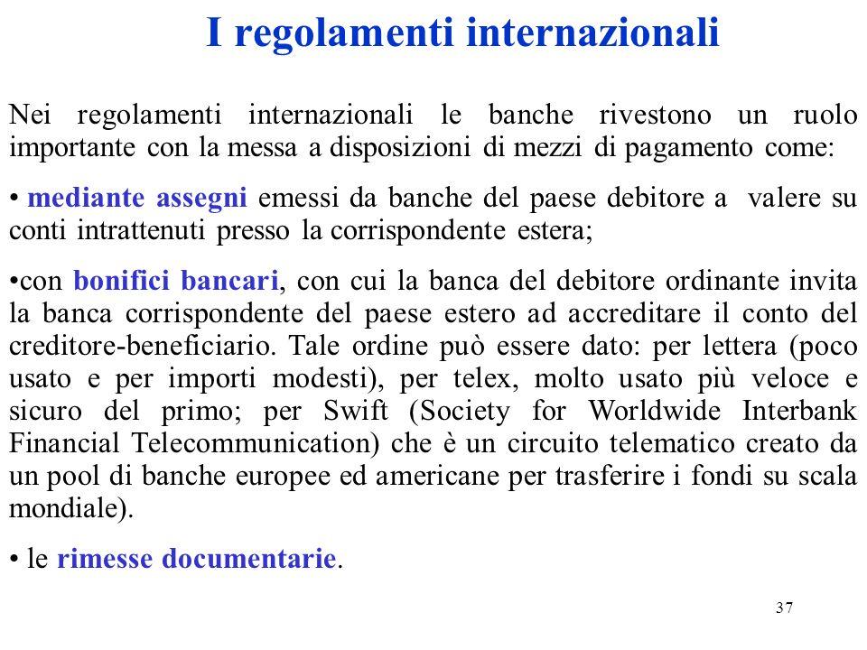 I regolamenti internazionali