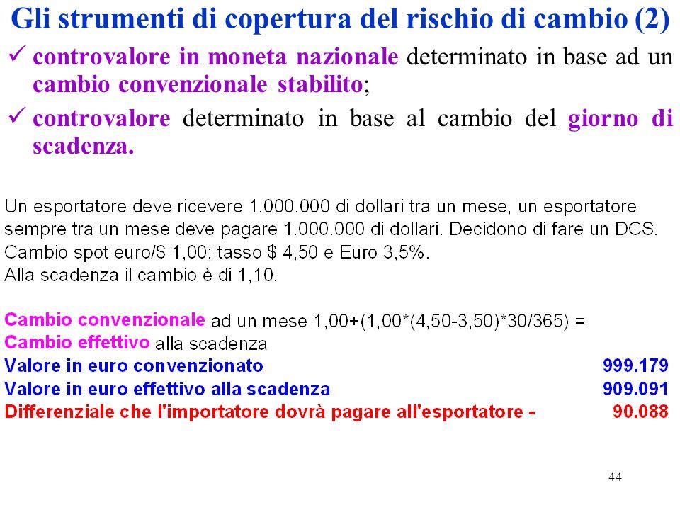 Gli strumenti di copertura del rischio di cambio (2)