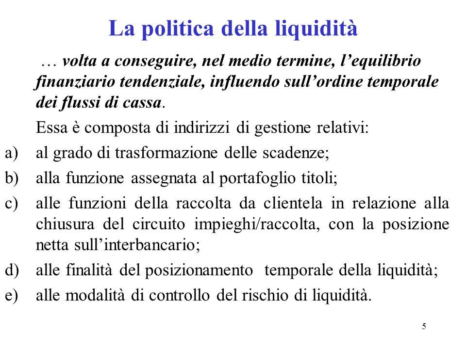 La politica della liquidità