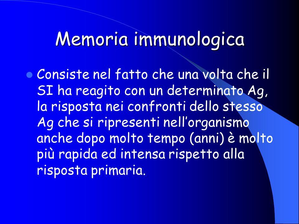 Memoria immunologica