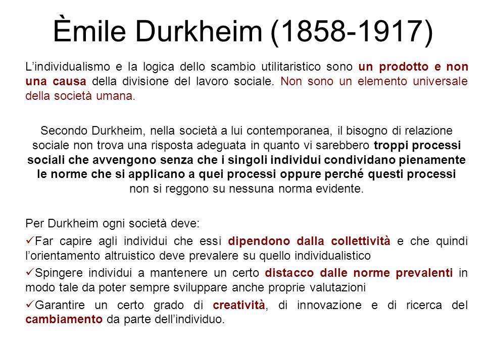 Èmile Durkheim (1858-1917)