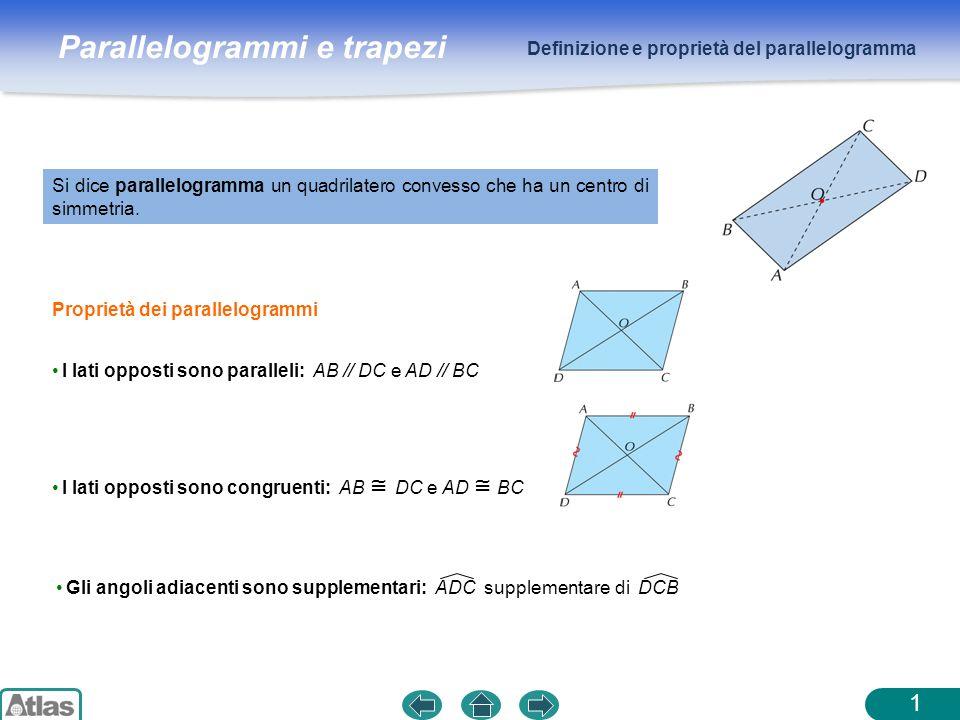 Definizione e proprietà del parallelogramma