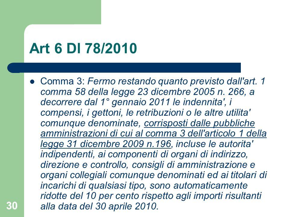 Art 6 Dl 78/2010