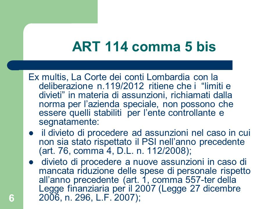 ART 114 comma 5 bis