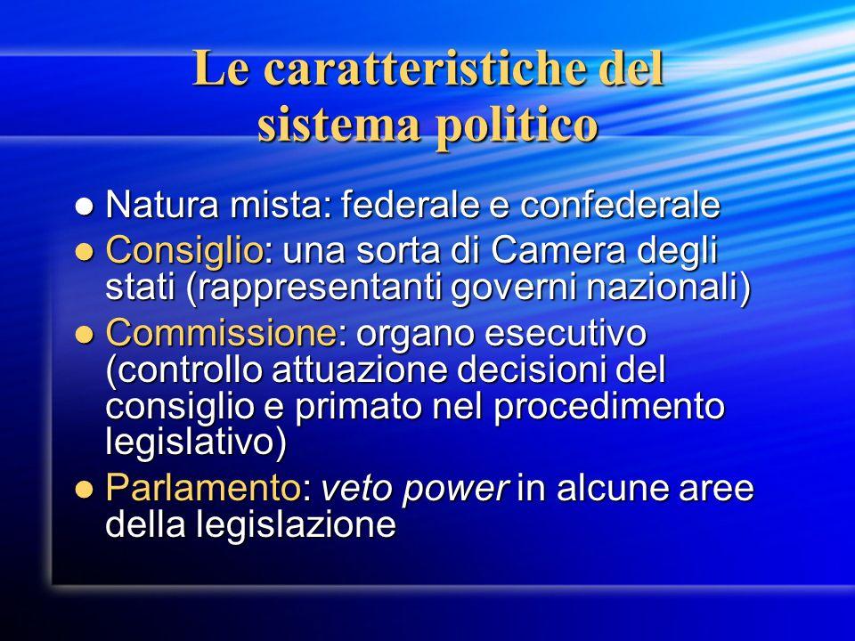 Le caratteristiche del sistema politico