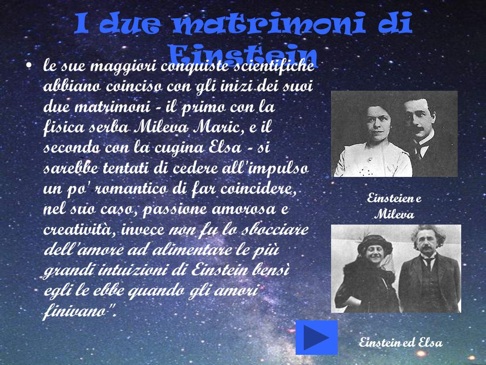 I due matrimoni di Einstein
