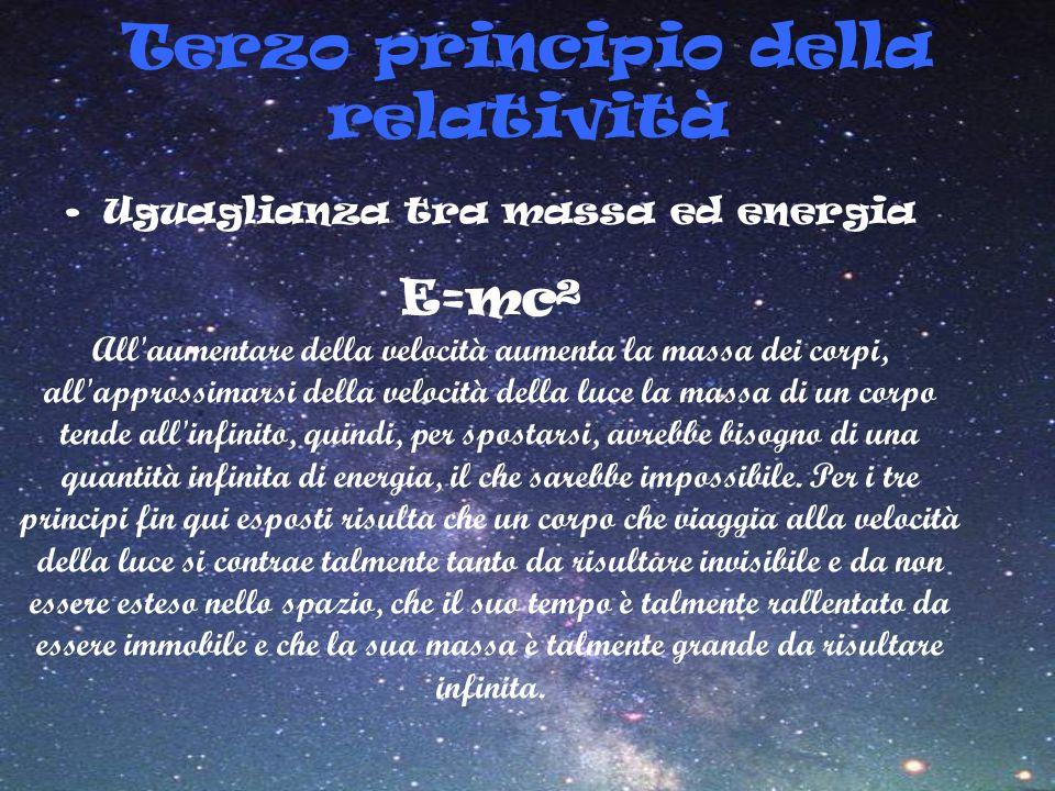 Terzo principio della relatività