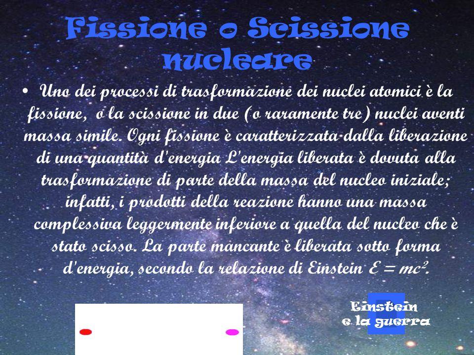 Fissione o Scissione nucleare