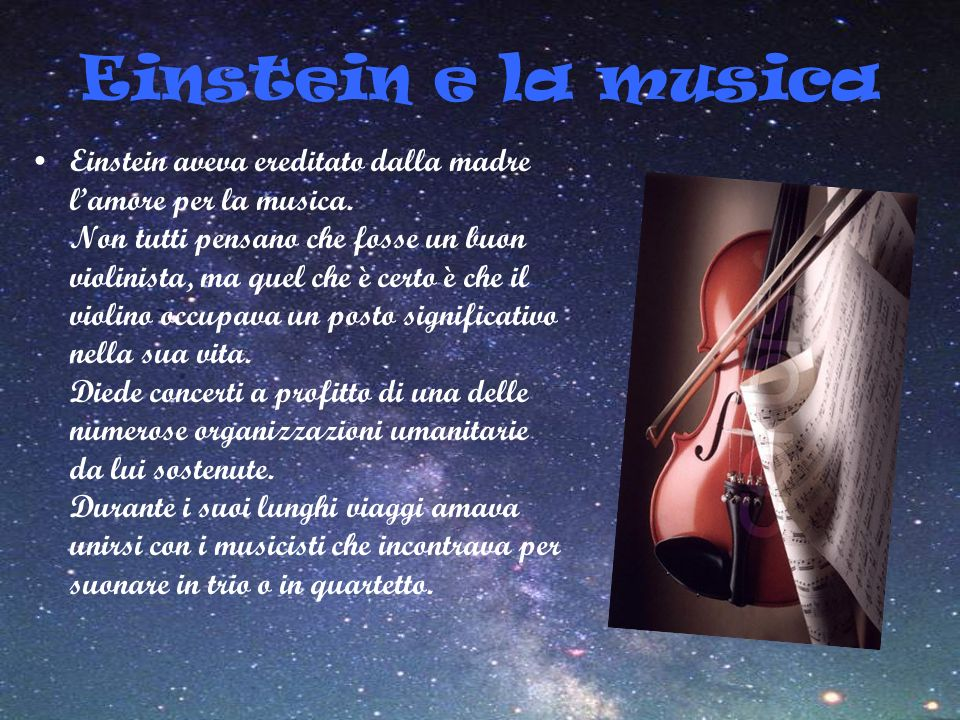 Einstein e la musica