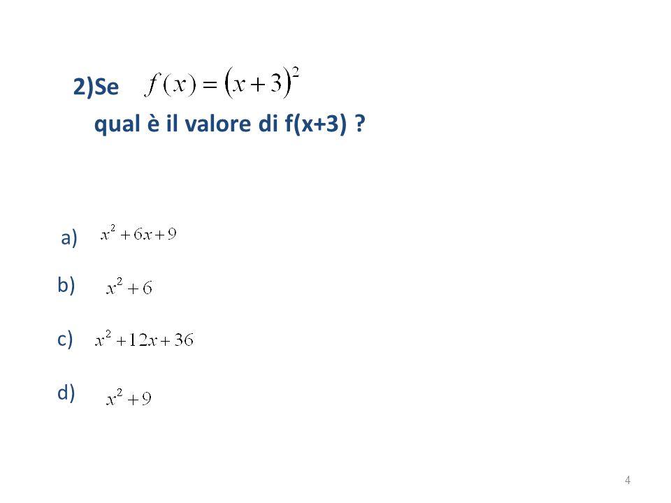 qual è il valore di f(x+3)