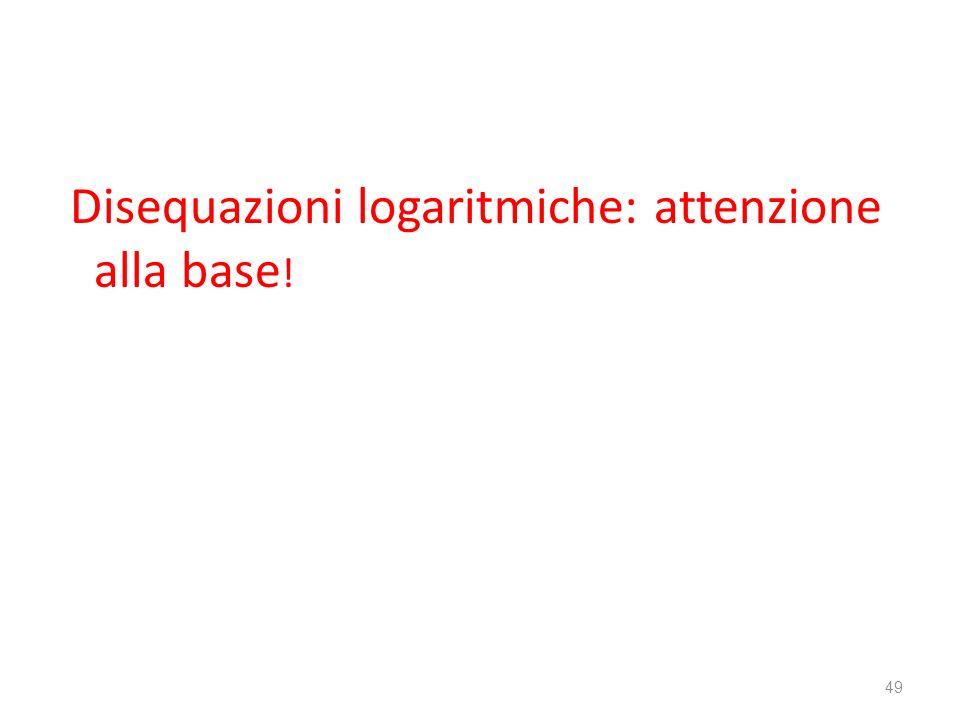 Disequazioni logaritmiche: attenzione alla base!