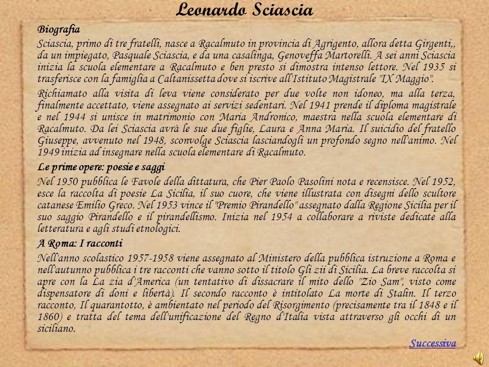 Leonardo Sciascia Biografia