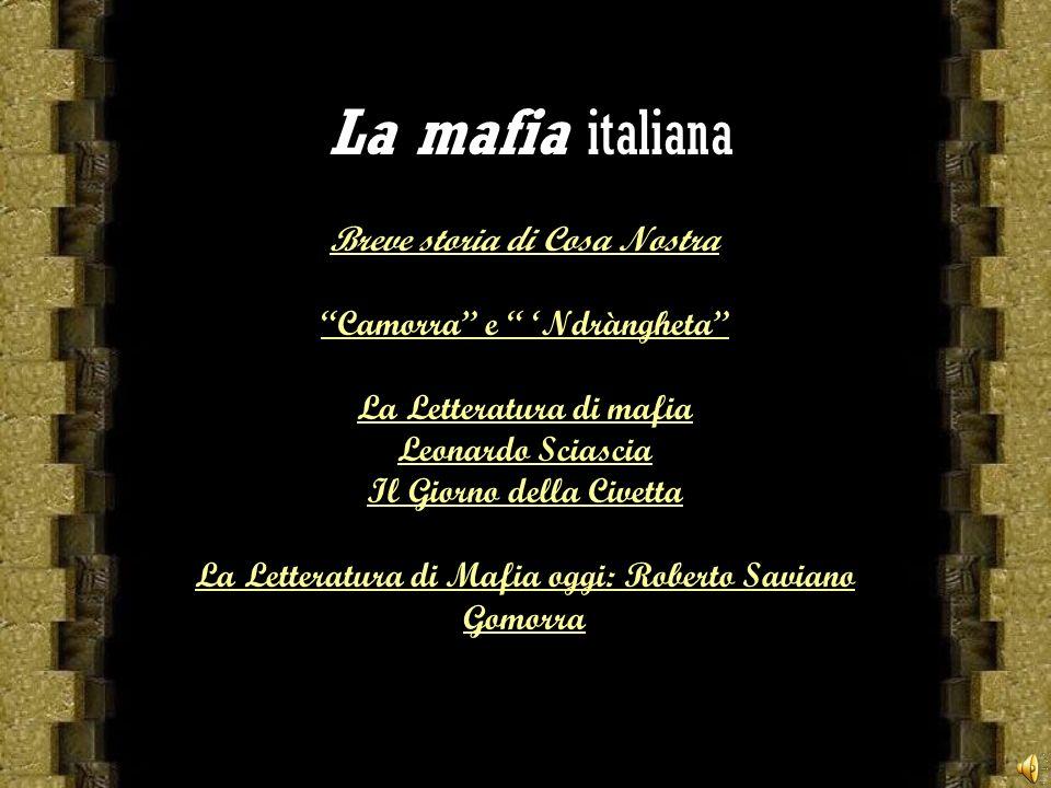 La mafia italiana Breve storia di Cosa Nostra