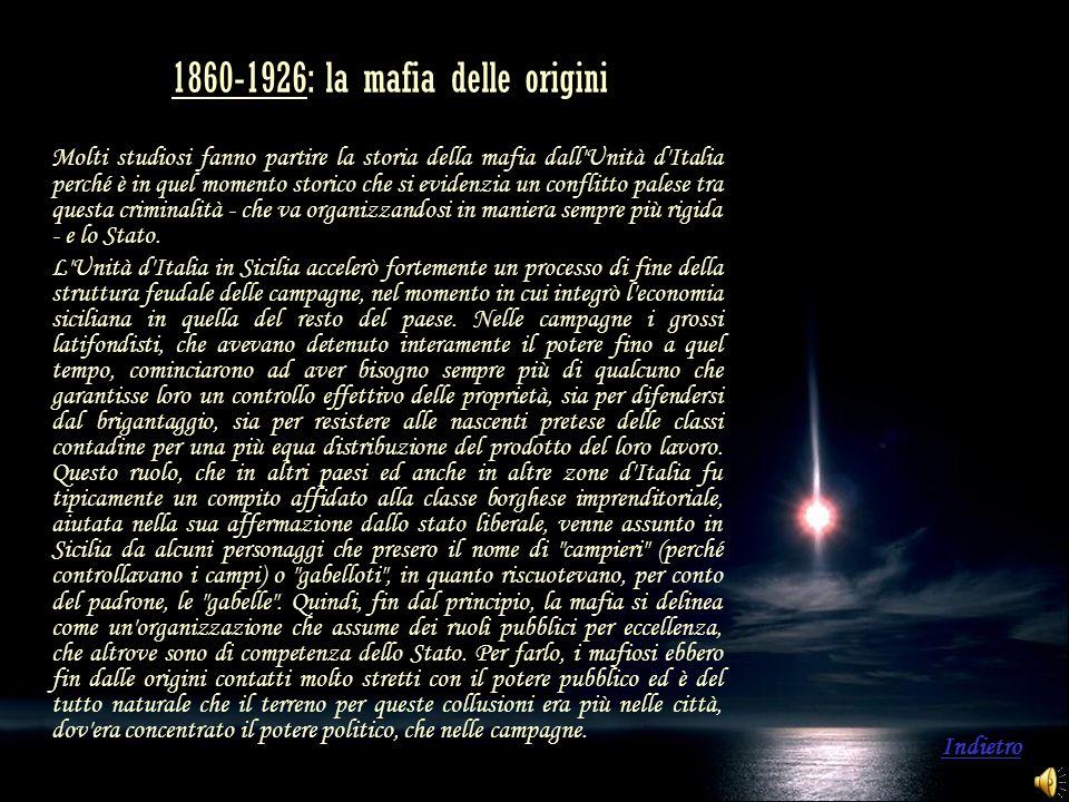 1860-1926: la mafia delle origini