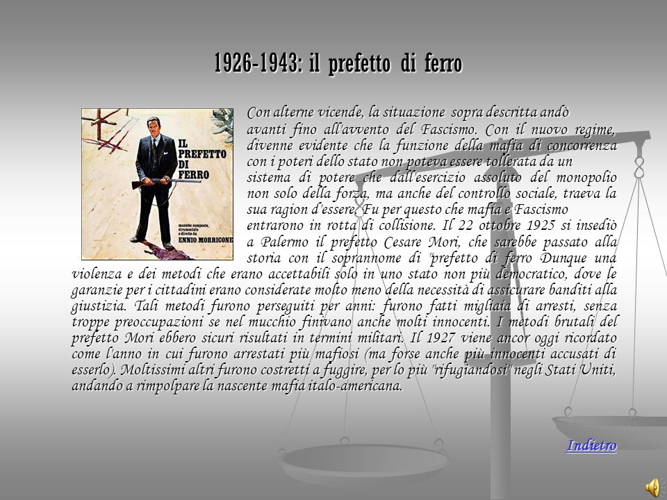 1926-1943: il prefetto di ferro