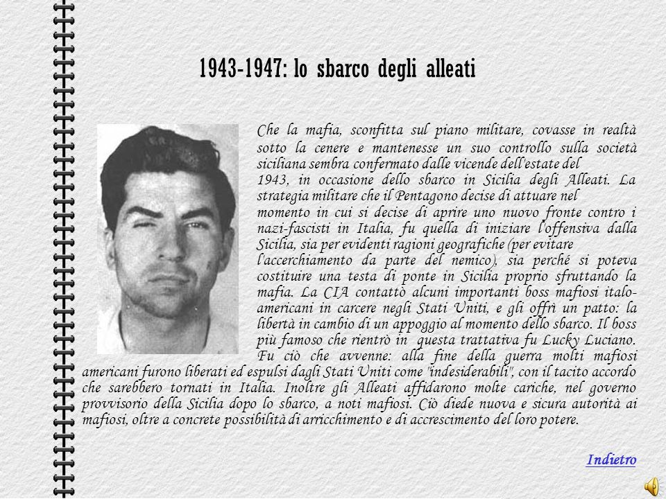 1943-1947: lo sbarco degli alleati
