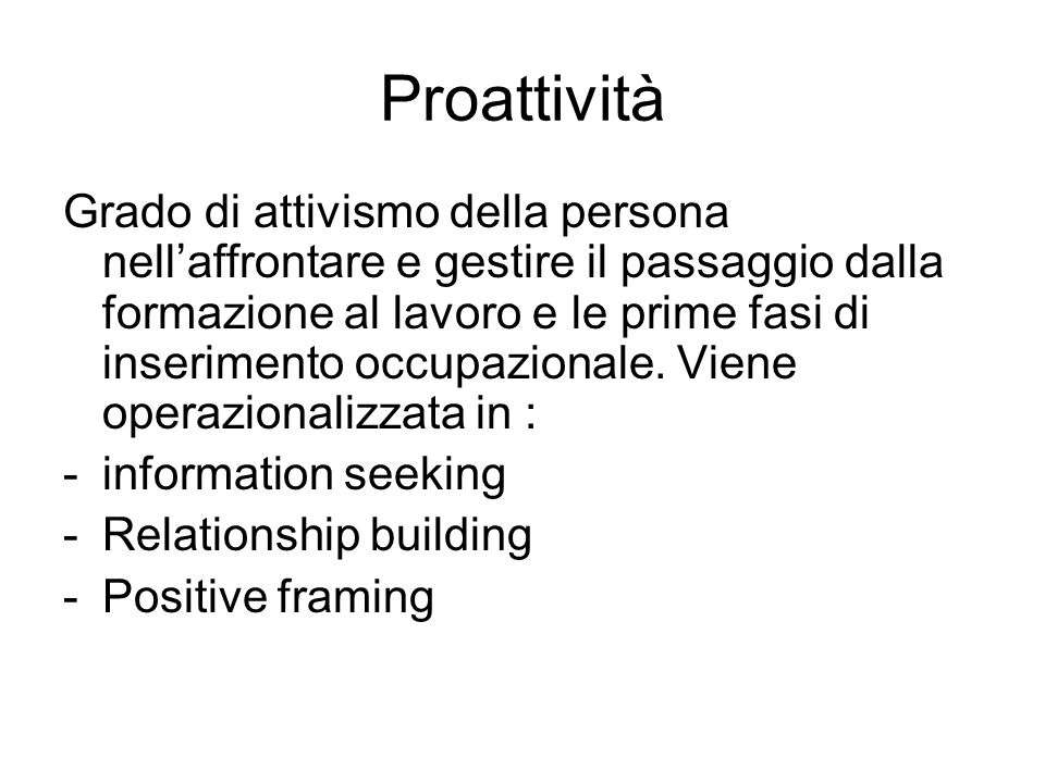 Proattività
