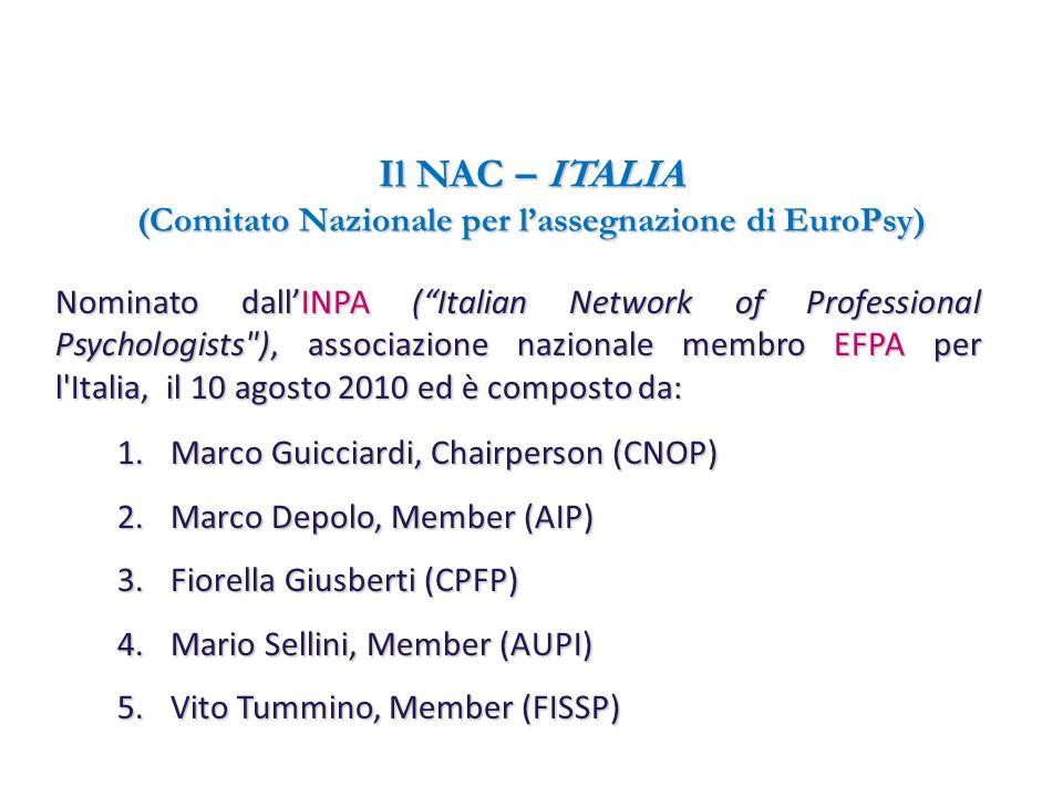 Il NAC – ITALIA (Comitato Nazionale per l'assegnazione di EuroPsy)