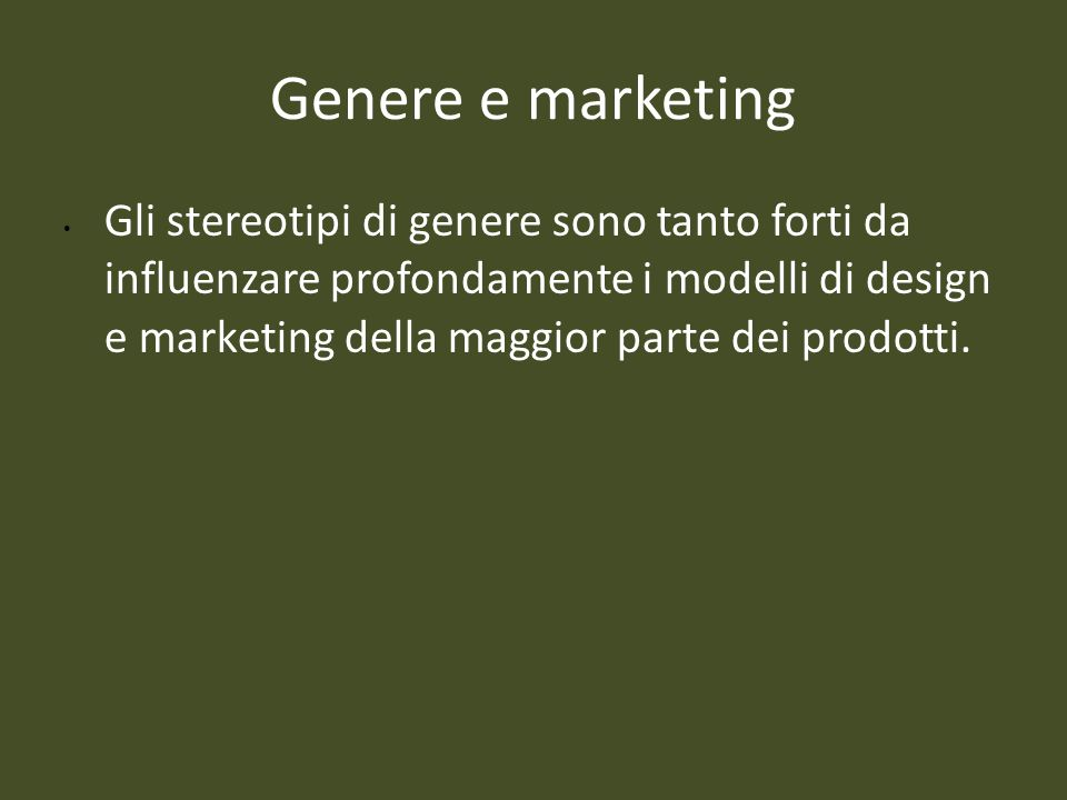 Genere e marketing