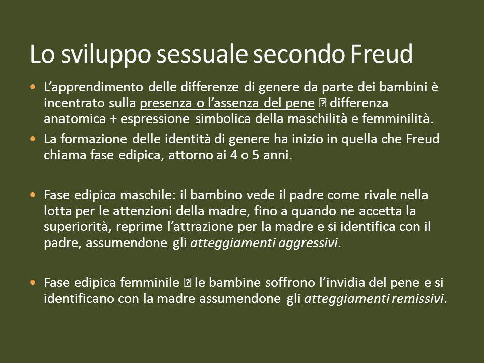 Lo sviluppo sessuale secondo Freud