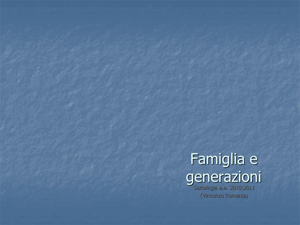 Famiglia e generazioni