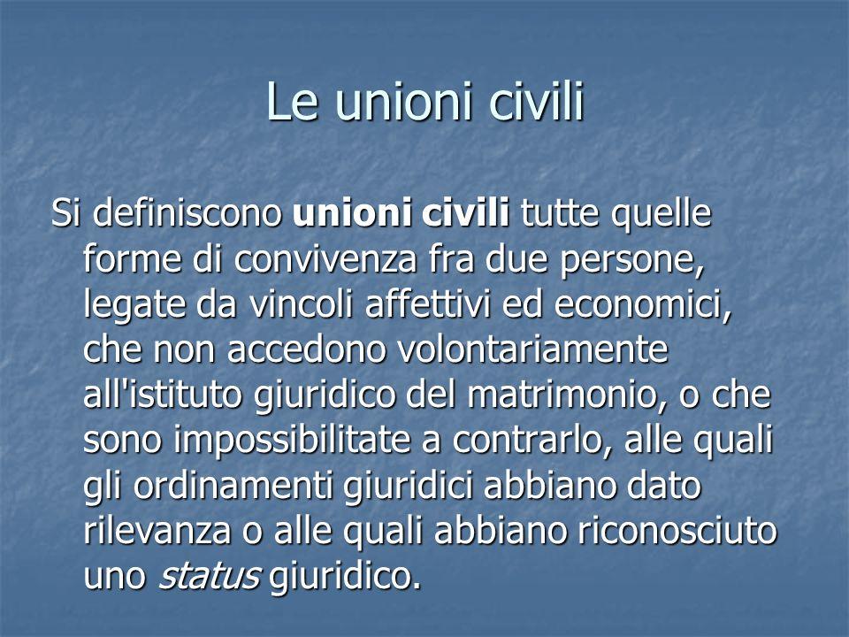 Le unioni civili