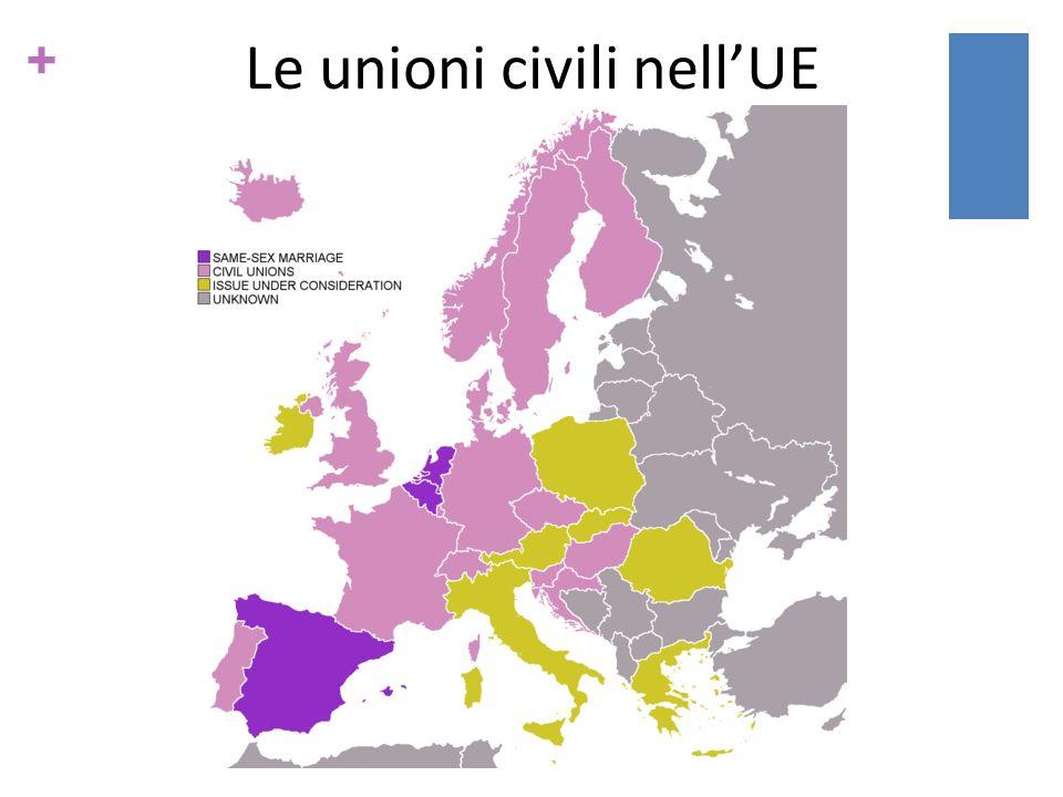 Le unioni civili nell'UE