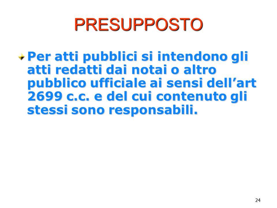 Vincenzo Carbone PRESUPPOSTO.