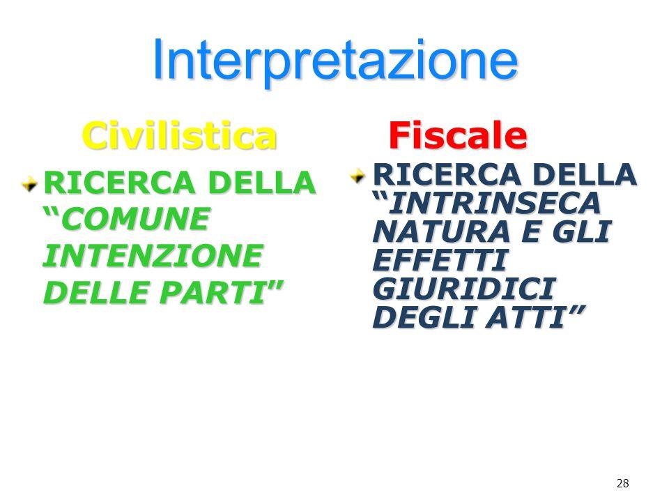 Interpretazione Civilistica Fiscale