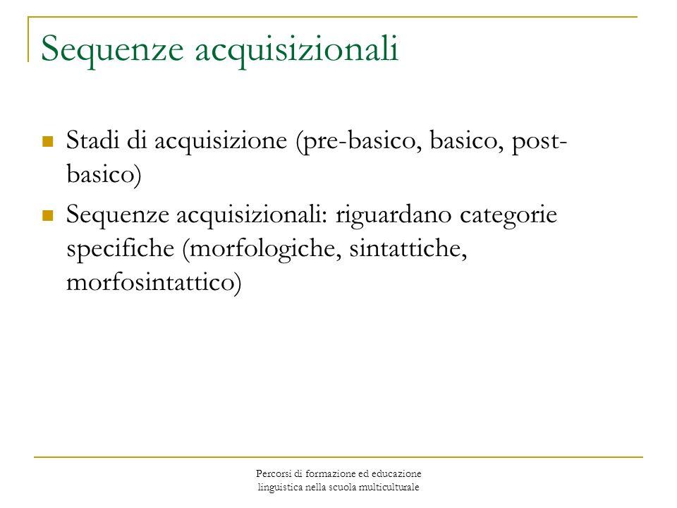 Sequenze acquisizionali
