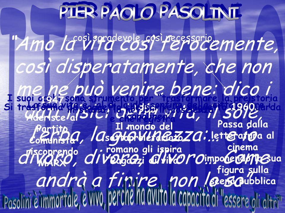 ITALIANO PIER PAOLO PASOLINI.