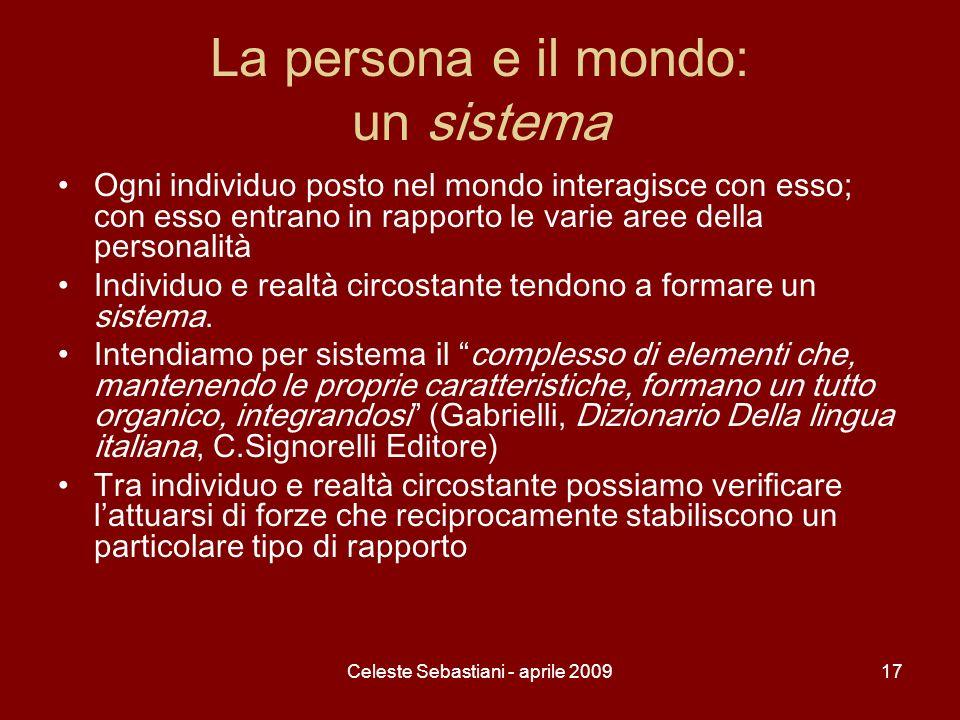 La persona e il mondo: un sistema