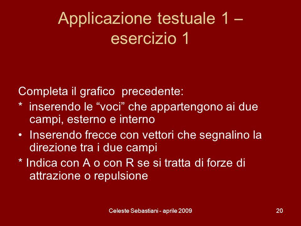 Applicazione testuale 1 – esercizio 1