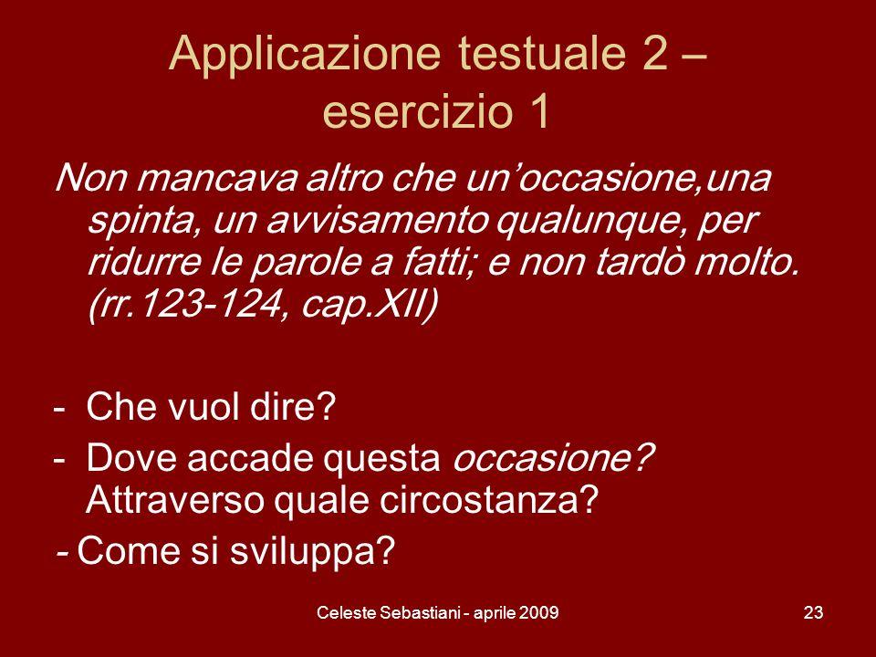 Applicazione testuale 2 – esercizio 1
