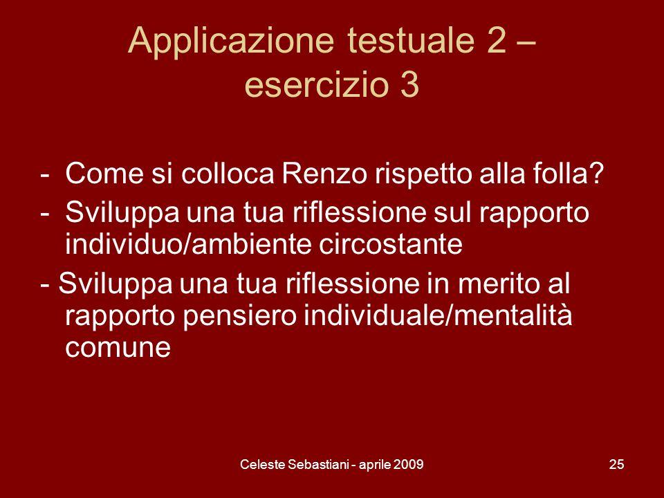 Applicazione testuale 2 – esercizio 3