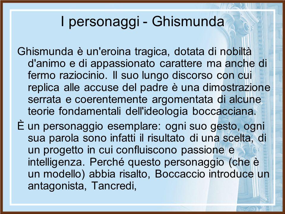 I personaggi - Ghismunda