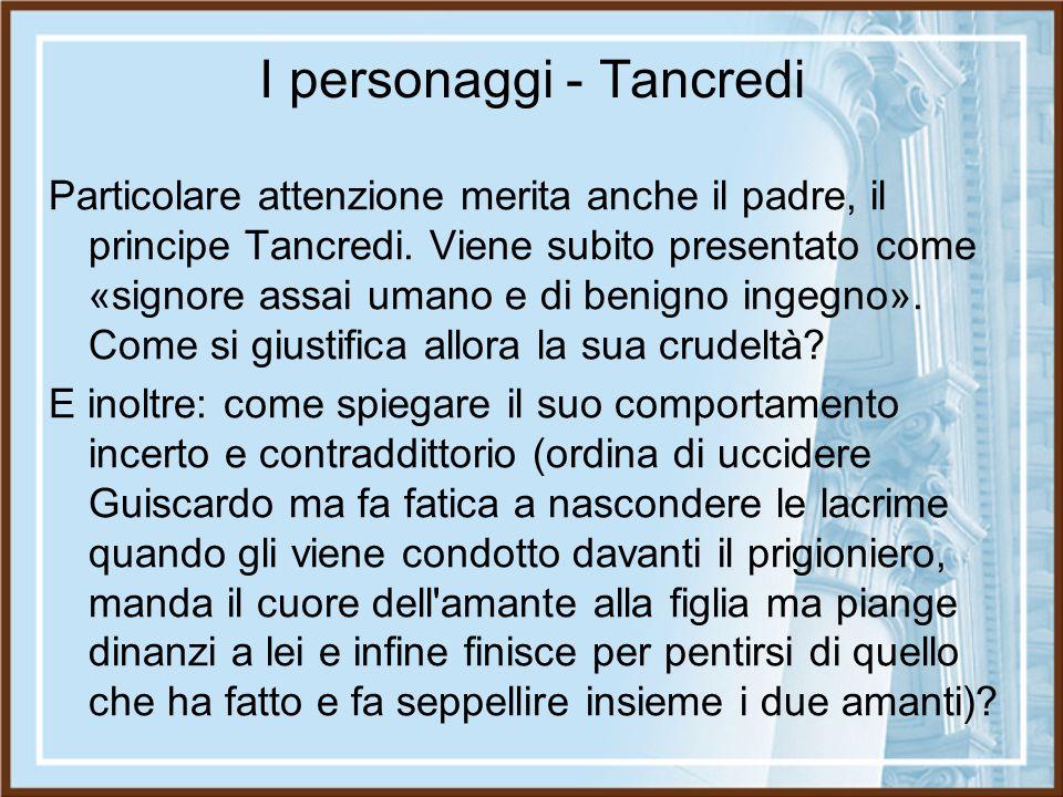 I personaggi - Tancredi