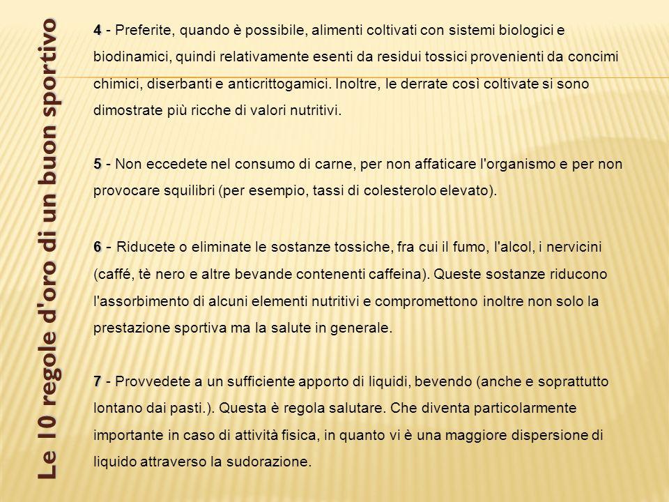 Le 10 regole d oro di un buon sportivo