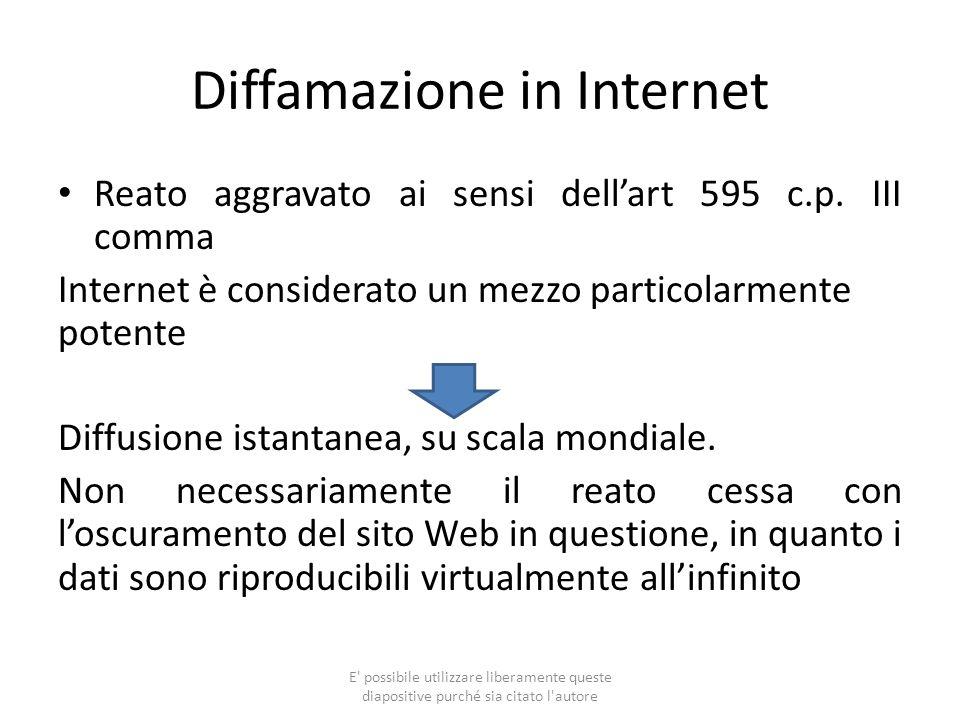 Diffamazione in Internet