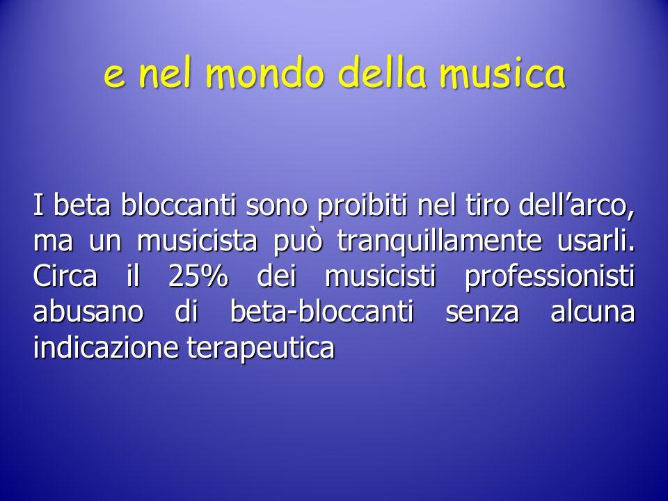 e nel mondo della musica