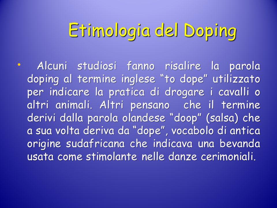 Etimologia del Doping