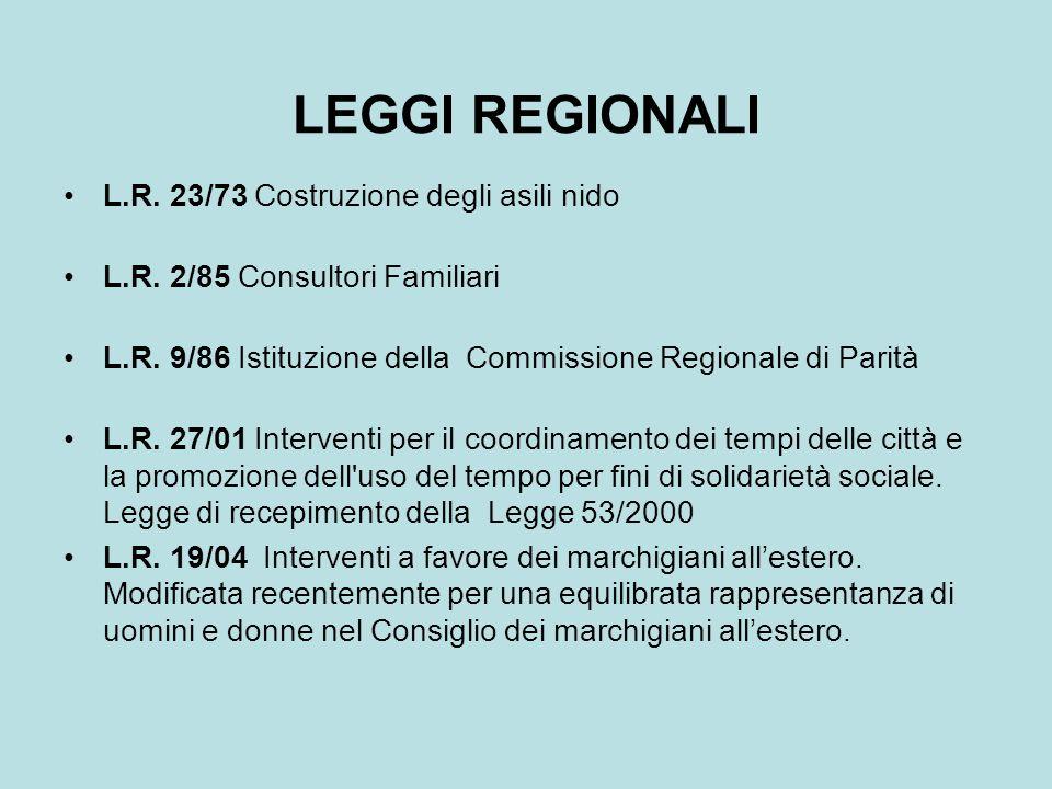 LEGGI REGIONALI L.R. 23/73 Costruzione degli asili nido