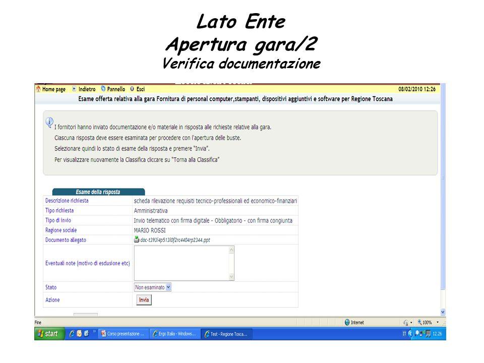 Verifica documentazione