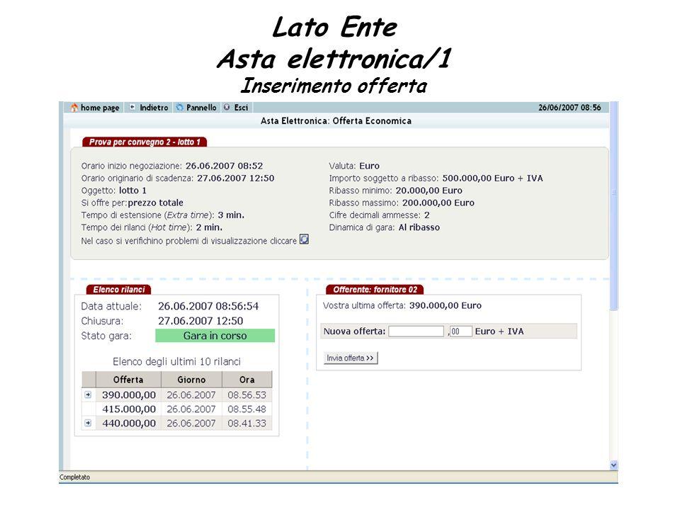 Lato Ente Asta elettronica/1