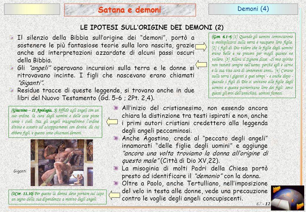 LE IPOTESI SULL'ORIGINE DEI DEMONI (2)