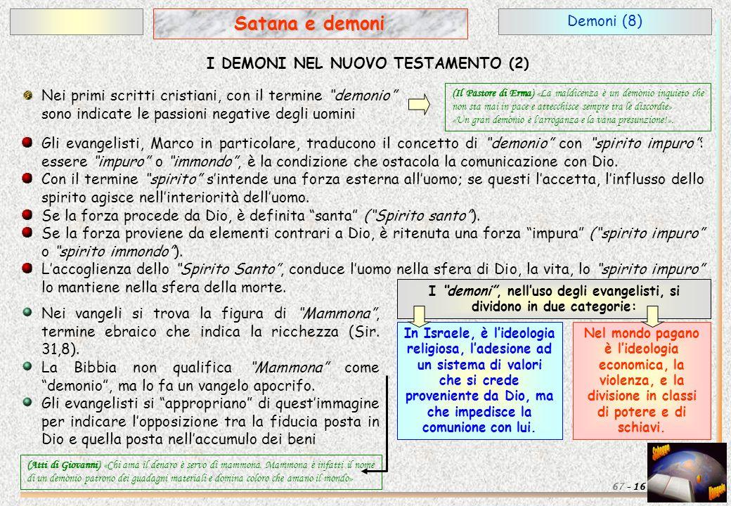 Satana e demoni Demoni (8) I DEMONI NEL NUOVO TESTAMENTO (2)