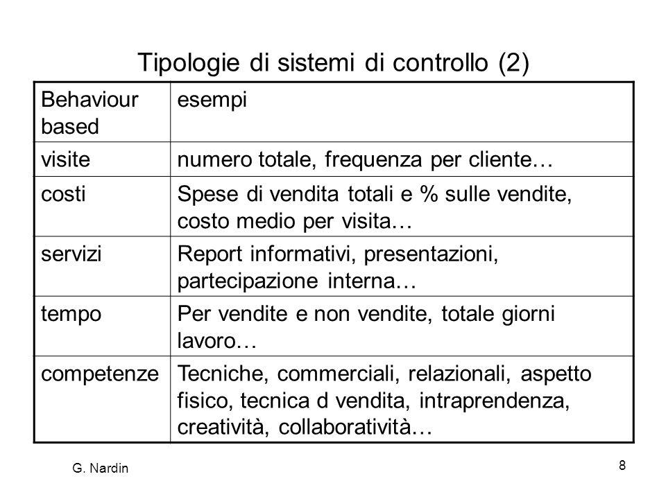 Tipologie di sistemi di controllo (2)