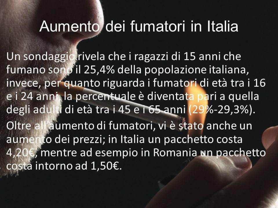 Aumento dei fumatori in Italia