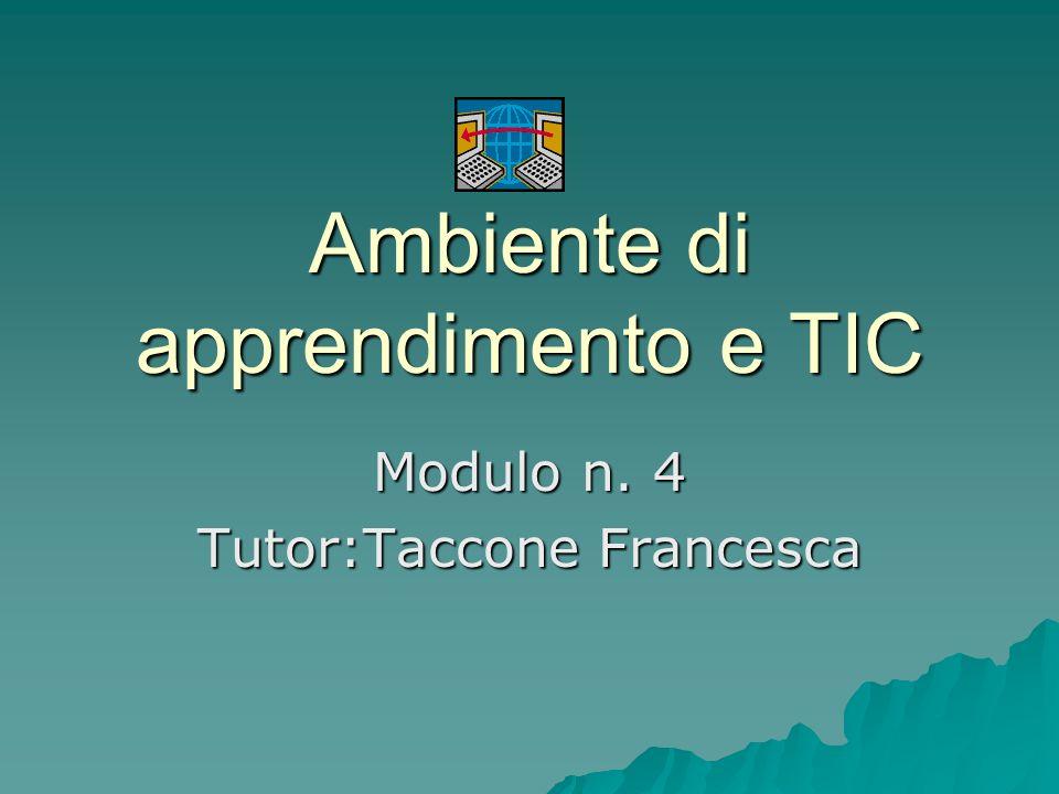 Ambiente di apprendimento e TIC