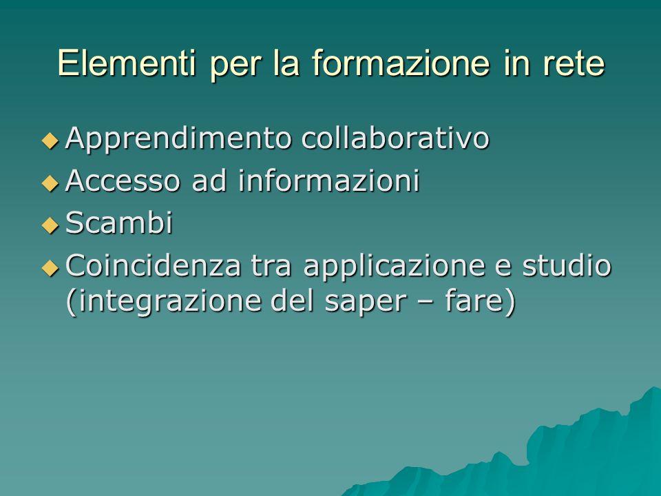 Elementi per la formazione in rete
